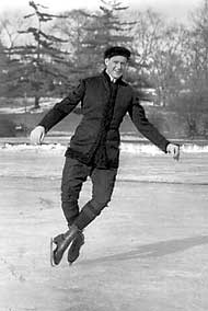 4-time world champion Isaac Irving Brokaw represented the US in figure skating during the 1908 SUMMER Olympic games. He was America's first winter sports Olympian and is credited with bringing international figure skating to the US.