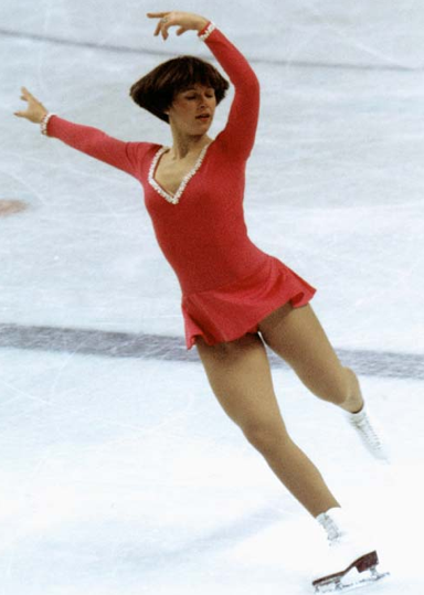 1976 Olympic gold medalist Dorothy Hamill was world champion in 1976 and US champion from 1974-76.