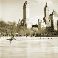 First Annual Figure Skating Championships at Wollman Memorial Rink in Central Park