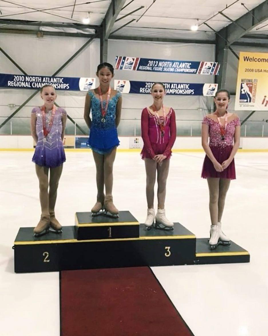 Emily Zhang (1st, SCNY); Lindsay Thorngren (2nd, Ice House NJFSC); Riley Stein (3rd, SCNY); Isabella Massa (4th, Ice House NJFSC)