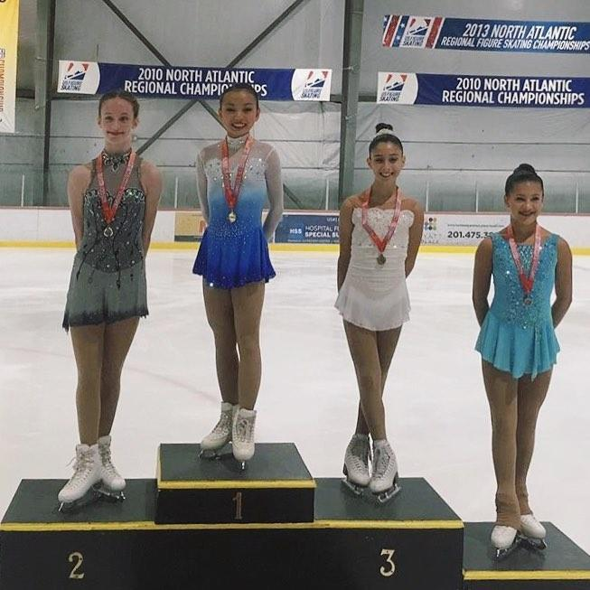Angela Chang (1st, Great Neck FSC); Dracy Condon (2nd, SCNY); Elana Duggan (3rd, SC So. NJ); Maliah Utley (4th, No. Jersey FSC)